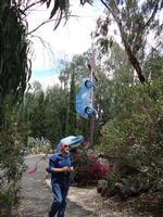 Aurelio Caruso al Parco dell'Arte Il pittore Aurelio Caruso in visita alle installazione della Fondazione La Verde La Malfa   - San giovanni la punta (6520 clic)