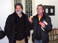 Calogero Barba e Michele Lambo un momento della presentazione allo Studio 71 di Palermodella mostra