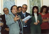 Francesco Carbone e Francesco M. Scorsone Nella foto il critico d'arte Francesco Carbone, il galleri