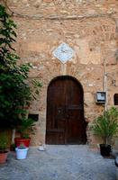 Portone del castello aragonese con sopra lo stemma   - Marineo (910 clic)