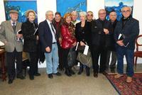 Artisti a Studio 71 per la mostra di Perricone da sinistra Bartman, Fulvia Reyes, Francesco Scorsone