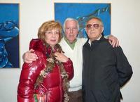 gruppoerre Antonella Affronti, Antonino Perricone e Totò Vitrano in occasione della mostra di Perric