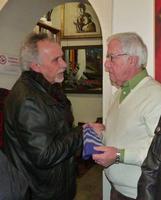 Franco Panella e Antonino Perricone Un momento dellamostra di Perricone alla galleria studio 71 di P