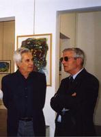 Franco Mulas e F.M. Scorsone Franco Mulas e Francesco M. Scorsone alla galleria Studio 71 in occasio