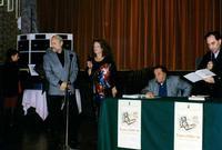 Premio Fimis 1996 da sx Vinny Scorsone, Ugo Attardi, Loredana Mormino, Francesco Carbone e Aldo Ferbino in occasione della consegna del Premio Fimis 96 ad Ugo Attardi  - Isola delle femmine (4228 clic)