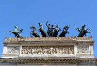 La quadriga del Teatro Politeama Garibaldi Quadriga bronzea di Apollo - opera di Mario Rutelli.  La