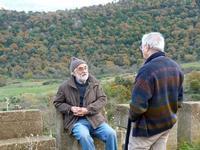 incontro tra M. Staccioli e F. Scorsone la foto è stata scattata il 05.01.2012  - Fiumara d'arte (4778 clic)