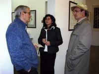 Momò Calascibetta allo Studio 71 Palermo Momò Calascibetta in visita alla Galleria Studio 71 di Pale
