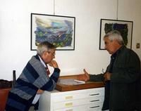 Francesco Scorsone e Franco Mulas Francesco M. Scorsone e Franco Mulas conversano alla galleria studio 71 di Palermo.  - Palermo (1207 clic)