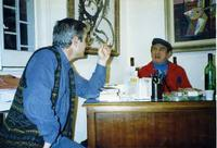 Francesco Marcello Scorsone e Ibrahim Kodra Marcello e Ibrahim allo studio 71 di Palermo nel 1989  P