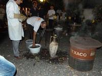 fasi della lavorazione della ceramica raku Il raffreddamento della ceramica  - San giovanni la punta (1652 clic)