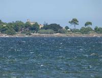 Mothia vista dalla costa trapanese L'isola di Motha vista da Trapani  - Mozia (2073 clic)