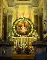 Giovedì Santo 2009 a Comiso Chiesa Madre - Cappella del Santissimo Sacramento addobbato per la veglia notturna  - Comiso (5214 clic)
