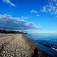 Vista invernale della spiaggia con autoritratto.  - Fiumefreddo di sicilia (7325 clic)
