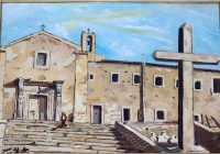 Scendo le scale Convento di Maria SS.degli Angeli  - Assoro (5490 clic)