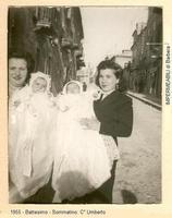 Figliocci & Madrine. Battesimo Gemellare - 1955  - Sommatino (1705 clic)