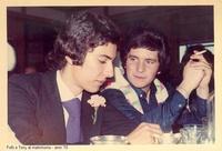 Fofò Ruggeri e Tony Emma - 1970 Sommatino 1970 - Amici al matrimonio  - Sommatino (1774 clic)