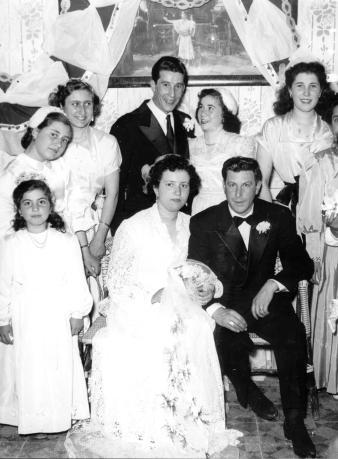 Foto di matrimonio di Emma Fsco - Sommatino 1954 - SOMMATINO - inserita il