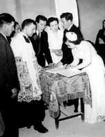 Firma dei testimoni. Padre Mattè - Sommatino 1954  - Sommatino (3723 clic)