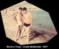 Emma Antonino e Selvaggio Borino - 1971 Gita al mare  - Sommatino (3965 clic)