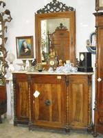 tanger in noce massello con perfili frontale e dai lati epoca 1840 provenienza sicilia in patina ENN