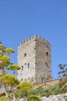 Nel punto più alto del sito sorge la torre mastra di pianta rettangolare  (lughezza 12,60 metri, larghezza 8,40 metri ed altezza 20 metri)  - Cefalà diana (872 clic)