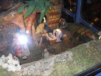 il presepe nella 500 della Polizia Stradale - 4 dicembre 2010  CALTAGIRONE LIDIA NAVARRA