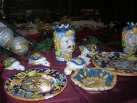 ceramiche - Mercatini di Natale - 4 dicembre 2010 CALTAGIRONE LIDIA NAVARRA