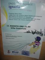 Villa Comunale - ENZO DI PASQUALE presenta IGNAZIA (Edizioni Fazi) - la locandina - 11 agosto 2010  - Castellammare del golfo (1924 clic)