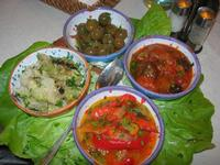 antipasto rustico: peperonata - caponata di melanzane - cavolfiori - olive condite - Busith - 1 novembre 2010  - Buseto palizzolo (2982 clic)