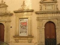 l'edificio per le Corti di Giustizia, detta Corte Capitaniale - particolare - 4 dicembre 2010 CALTAG