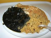 tris di cous cous: al nero di seppia, pesce spada e melanzane, pesce - 20 luglio 2010  - San vito lo capo (4467 clic)