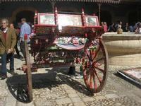 carretto siciliano e fontana - vecchio mercato - Infiorata 2010 - 16 maggio 2010  - Noto (2630 clic)