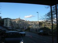 sul trenino turistico - panorama della città - 4 dicembre 2010 CALTAGIRONE LIDIA NAVARRA