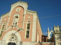 sul trenino turistico - visita alla città - Chiesa - 4 dicembre 2010 CALTAGIRONE LIDIA NAVARRA