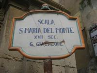 Scala Santa Maria del Monte - l'insegna - 4 dicembre 2010 CALTAGIRONE LIDIA NAVARRA