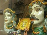 ceramiche d'arte in vetrina - 4 dicembre 2010 CALTAGIRONE LIDIA NAVARRA
