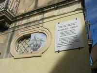 lapide commemorativa di Agesilao Greco - 4 dicembre 2010 CALTAGIRONE LIDIA NAVARRA