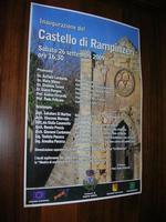 locandina inaugurazione Castello di Rampinzeri - 6 giugno 2010  - Santa ninfa (2730 clic)