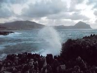 spettacolo del mare mosso all'Isulidda - 29 agosto 2010  - Macari (1993 clic)