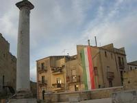 ruderi Chiesa Madre - colonna - 9 gennaio 2011  - Salemi (1176 clic)