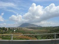 Monte Bonifato dall'autostrada A-29 Palermo-Mazara del Vallo - 25 luglio 2010 ALCAMO LIDIA NAVARRA