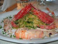 tagliatelle con scampi, gamberi e zucchine - La Cambusa - 2 novembre 2010  - Castellammare del golfo (1673 clic)