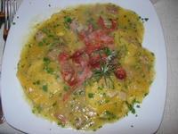 medaglioni zucca e speck: girasoli con ripieno di formaggio e noci, conditi con zucca, speck e rosmarino - Busith - 1 gennaio 2011  - Buseto palizzolo (1563 clic)