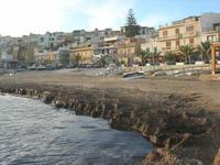 spiaggia (invasa dalle alghe) e case - 21 febbraio 2010   - Marinella di selinunte (2520 clic)
