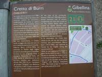 Cretto di Burri - ruderi di Gibellina vecchia - cartello turistico - 8 dicembre 2010  - Gibellina (5158 clic)