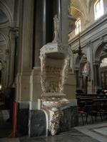 la Cattedrale Metropolitana della Santa Vergine Maria Assunta - interno: acquasantiera Spatafora/Fer