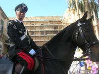 Carabiniere a cavallo - Infiorata 2010 - 16 maggio 2010  - Noto (3043 clic)