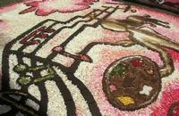 Infiorata 2010 - Bozzetti ispirati al tema: Musica dipinta: le forme e i colori della musica - ARIA FRA LE NUVOLE - particolare - Via Nicolaci - 16 maggio 2010   - Noto (2685 clic)