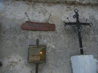 Castello di Baida - cartelli turistici e croce in ferro - 30 ottobre 2011  - Balata di baida (739 clic)
